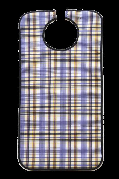 Suprima Ess-Schürze Polyester mit Druckknopfverschluss, blau kariert