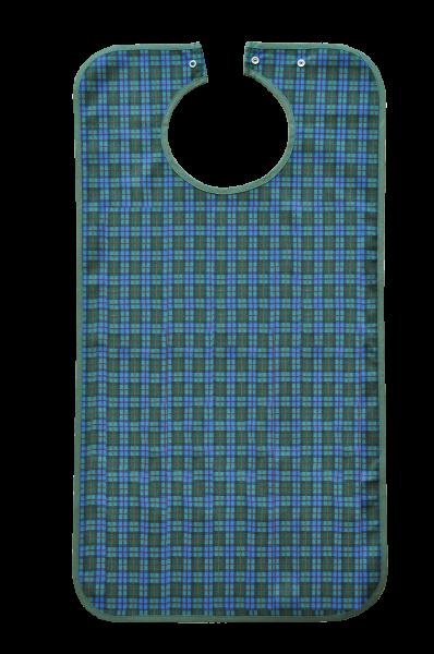 Suprima Ess-Schürze Polyester mit Druckknopfverschluss, blaugrün kariert
