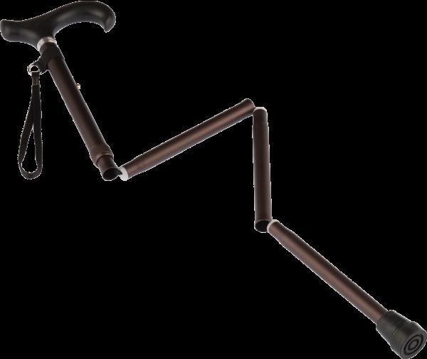 faltbarer Aluminium-Gehstock mit Softgriff